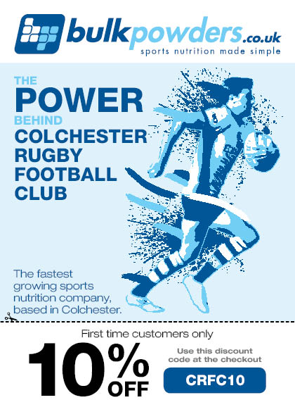 Colchester Rugby Club Advert